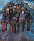 Родопски пейзаж от Момчиловци -399 Ж;м.б., платно; 100х80 см.;  подпис долу дясно М.Аб.; разпределена от ДПК; Магда Абазова - Родена на 28.03.1923 г. в София./RHODOPI LANDSCAPE FROM MOMCHILOVTSI - oil coulors on canvas; 100x80; signed bottom right M. Ab. - ХГ Проф. Илия Петров - Разград