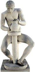 """Голо тяло - Инв.№ 43; гипс; 80х38х49; без подпис и дата; откупена от ОХИ """"Лудогорие '80""""; Иван Димитров Праматаров - Роден на 01.02.1938 г. в Пазарджик. Завършва (1961) ХА - София/ NUDE BODY - plaster; 80x38x49; Ivan Dimitrov Pramatarov - Born on 01.0 - ХГ Проф. Илия Петров - Разград"""