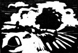 Светлина-Инв.№461 Г; линорез; 4,5х6,5; подпис долу дясно Ст. Куцаров; дарение от частно лице '87;Стефан Илиев Куцаров-Роден на 04.04.1918 г. в с. Моспино, Макеевски район - УССР/LIGHT-linocut; 4,5x6,5; signed bottomright St. Kutzarov; donation from pr - ХГ Проф. Илия Петров - Разград