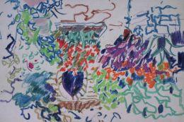 Балчик 3; Инв. № 455 Г; пастел; картон - велур; 32,5х48; без подпис и дата; дарение от автора '87; Здравко Светославов Батембергски; Роден на 27.08.1933 г. в с. Свещари, област Разград./ BALCHIK 3 - pastel, cardboard - velveteen; 32,5x48; no signature - ХГ Проф. Илия Петров - Разград